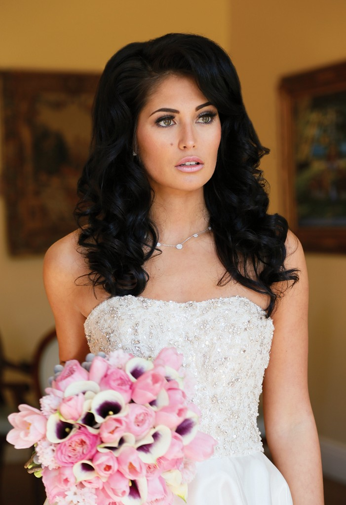 Gown: Oleg Cassini at David's Bridal (CWG791, $1,158), Ariston Flowers, Jewelry-KVO Collections