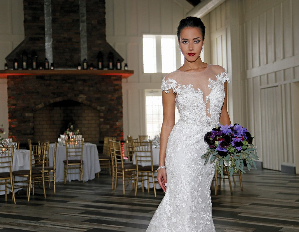 Gown: Eve of Milady (1613), Bouquet: Mitch Kolby Events, Jewelry: David's Bridal