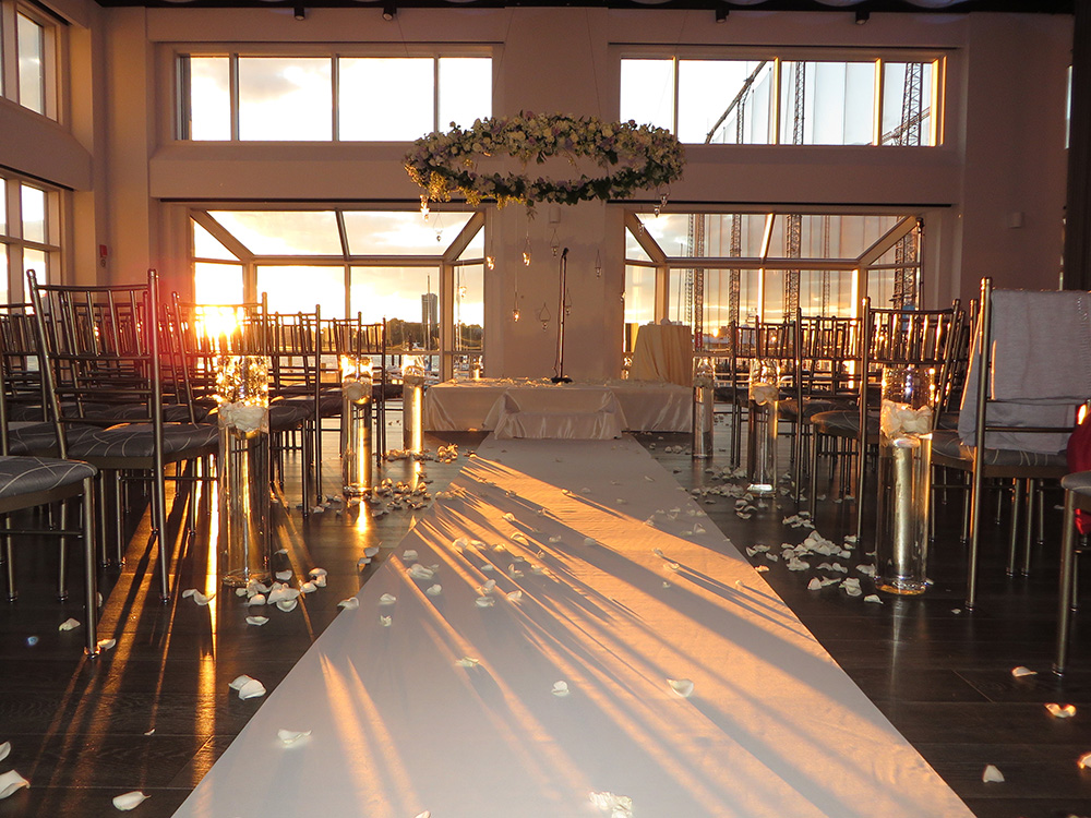 Piers Wedding Venues, Sunset Ceremony