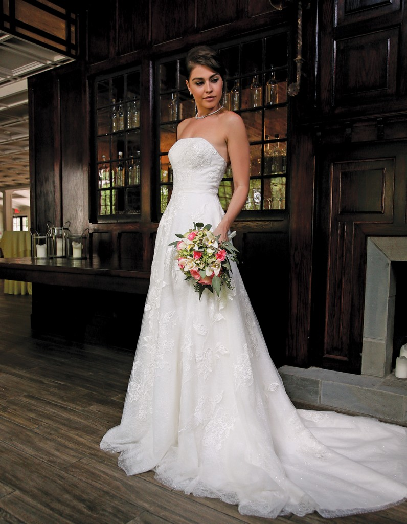 Gown-Oleg Cassini at David's Bridal (CWG803, $1,158), Henry's Florist, Jewelry-David's Bridal