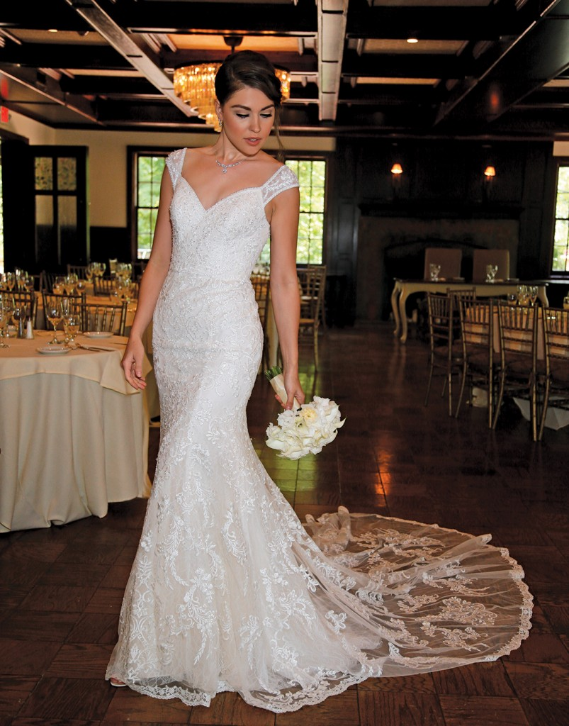 Gown-Oleg Cassini at David's Bridal (XTCWG808, $1,258), Ariston Flowers, Jewelry-David's Bridal