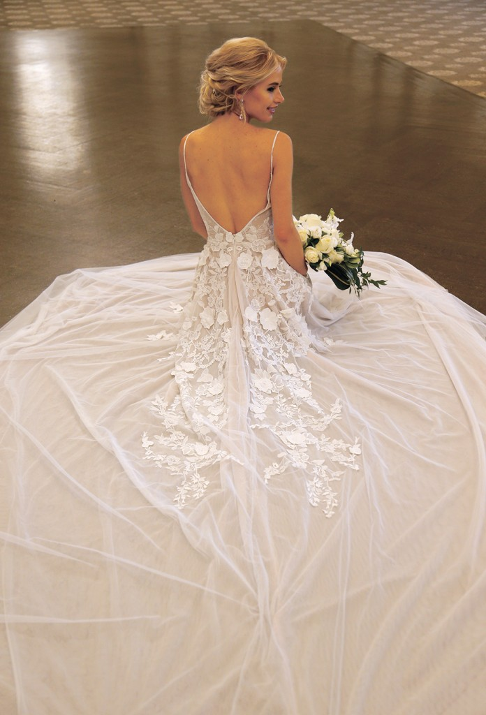 Gown-Jude Jowilson (Rosemary, $5,390), Sandra's & Donath's Florist, Earrings-David's Bridal