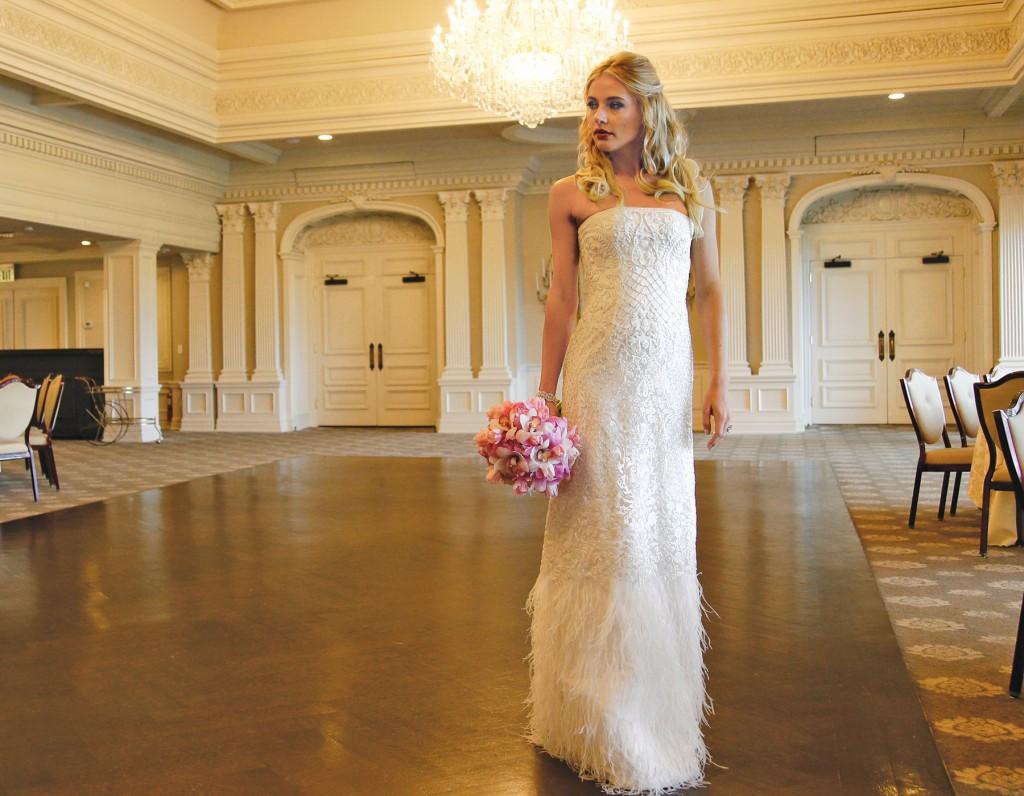 Gown-Oleg Cassini at David's Bridal, Ariston Flowers