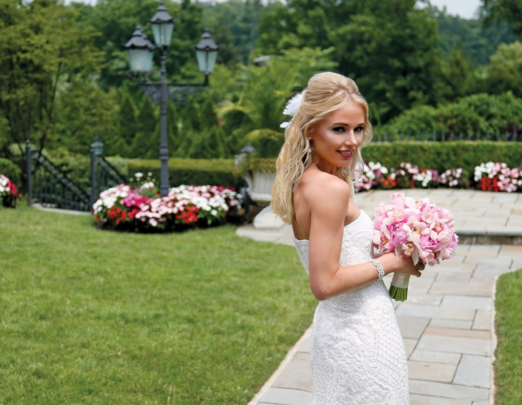 Gown-Oleg Cassini at David's Bridal, Ariston Flowers, Hair Jewelry-Sterling Hairpins, Earrings & Bracelet-David's Bridal