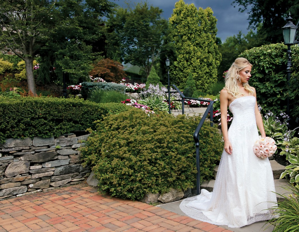 Gown-Oleg Cassini at David's Bridal, Ariston Flowers, Hair Jewelry-Sterling Hairpins, Earrings-David's Bridal