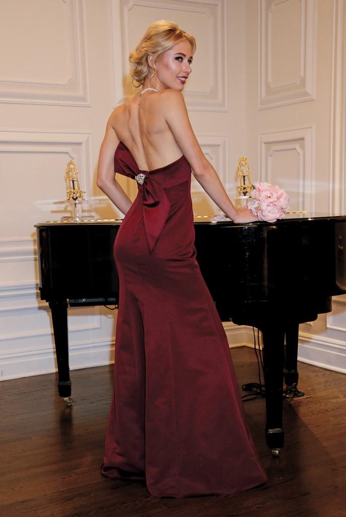 Bridesmaid Gown-Oleg Cassini at David's Bridal, Sandra's & Donath's Florist