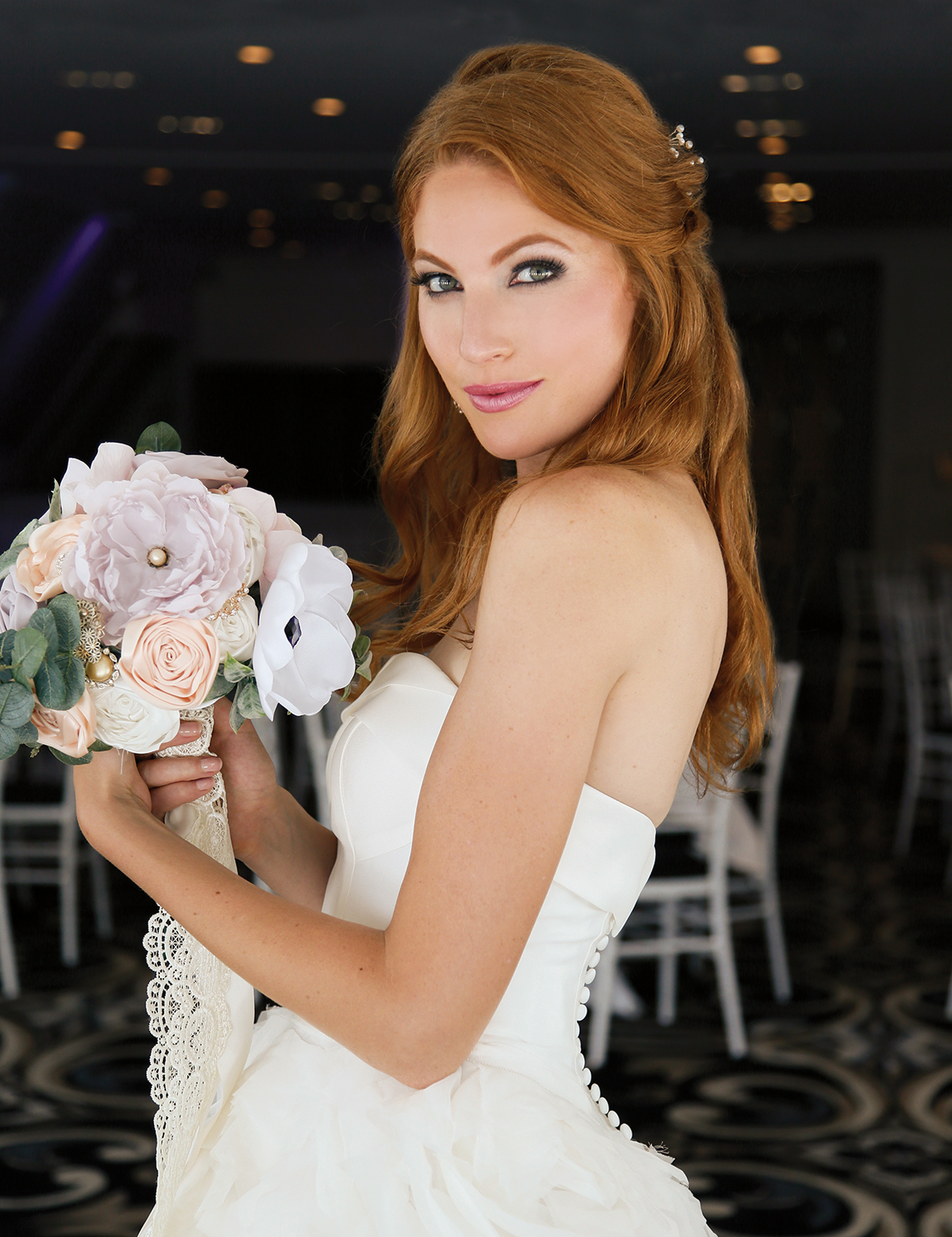 Alison Hamilton of NY Model Mgt., Hair & Makeup by The Fountain Spa
