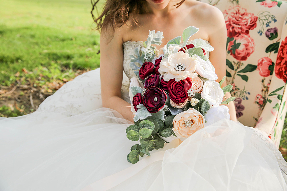 Forever Brooch Bouquets, Royal Wedding (Ruffles & Trains Photography)
