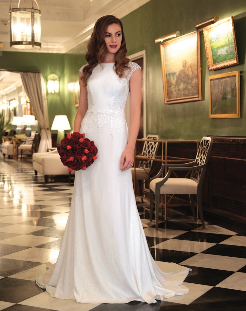 Gown: David's Bridal (WG3939, $499). Ariston Flowers
