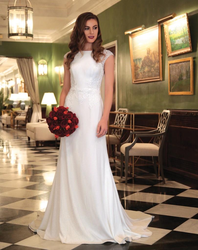 Gown: David's Bridal (WG3939, $499). Ariston Flowers