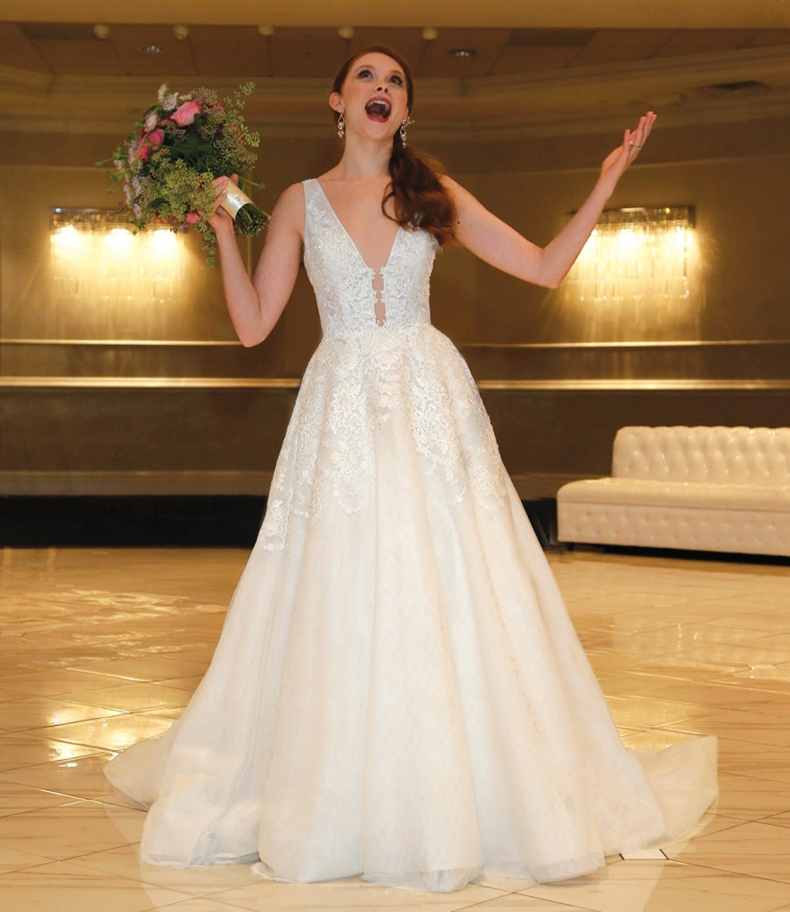 Gown: Jude Jowilson (Olivia). Bouquet: Mitch Kolby Events