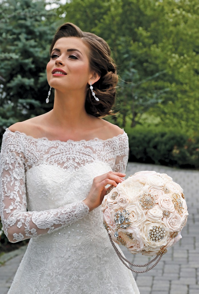Wedding Flowers by Forever Brooch Bouquet