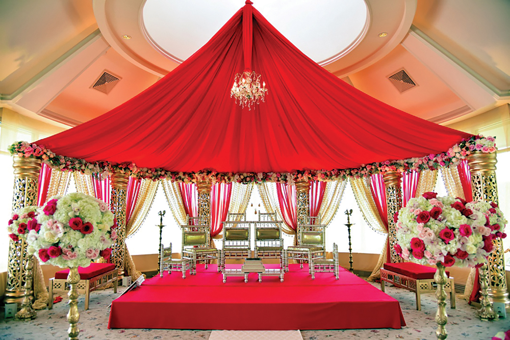 The elaborate Indian Weding Stage