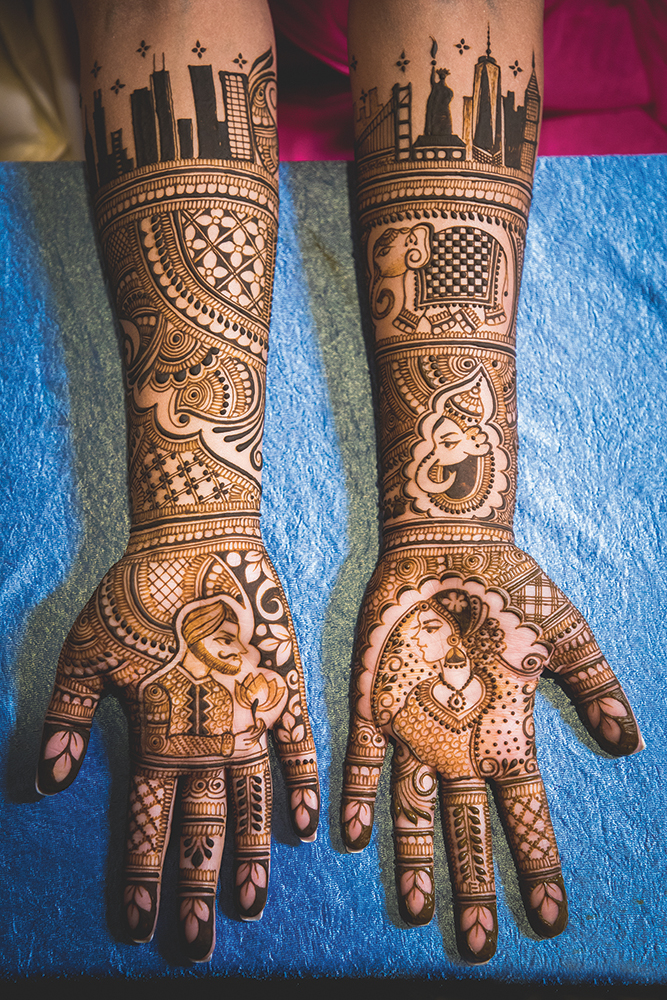 At the Mehendi ceremony, Traditional Henna. (Christopher Brock Photography)