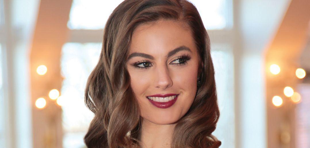 Niki Larson of Wilhelmina. Hair & Makeup by The Fountain Spa.