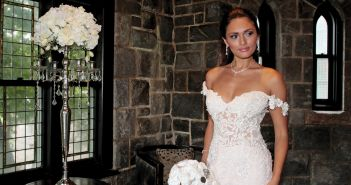 Gown: Eve of Milady (4367). Bouquet: Forever Brooch Bouquets.