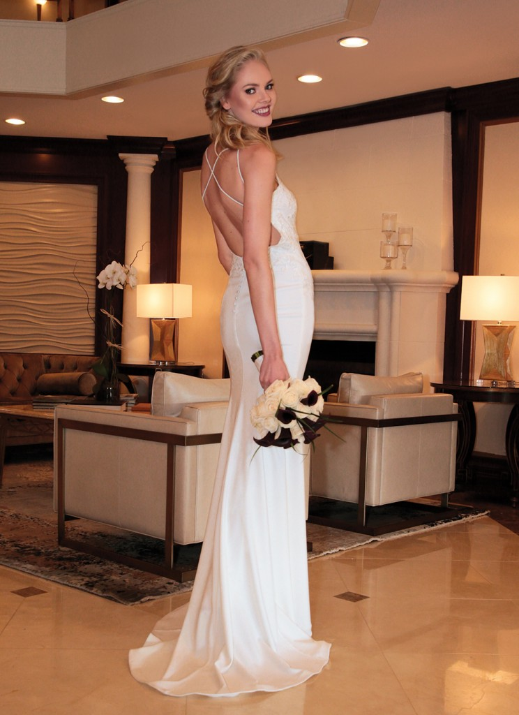 Gown: Jude Jowilson (Eliza). Bouquet: Ariston Flowers.