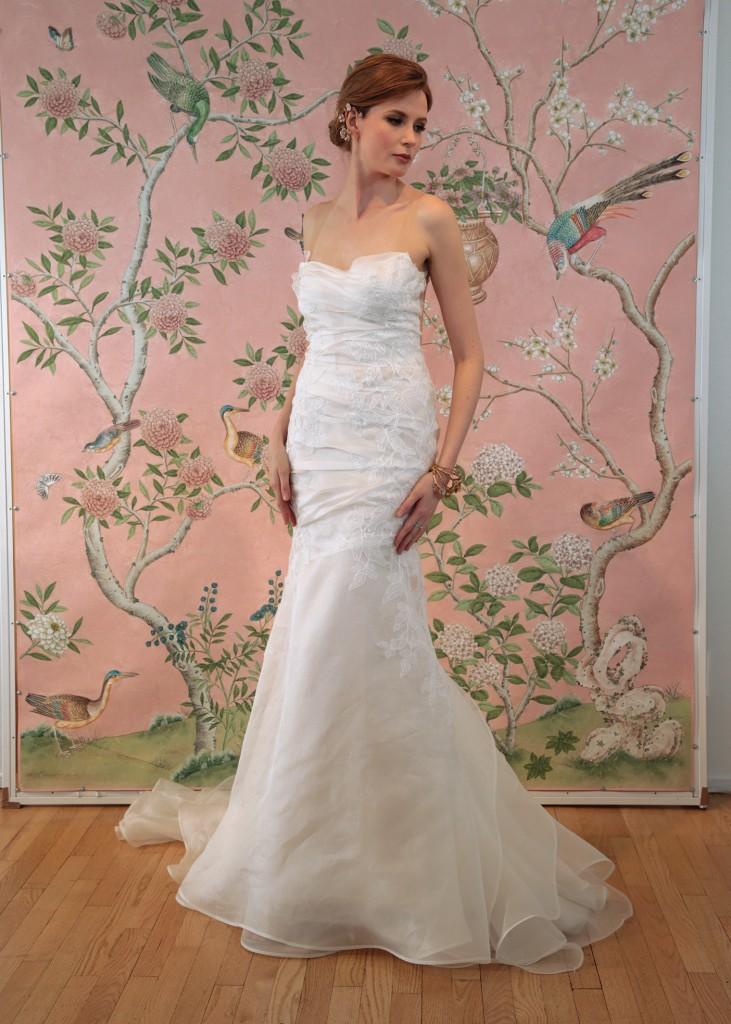 Ines di Santo Bridal Wedding Gown Trumpet Asymmetrical Sleeveless