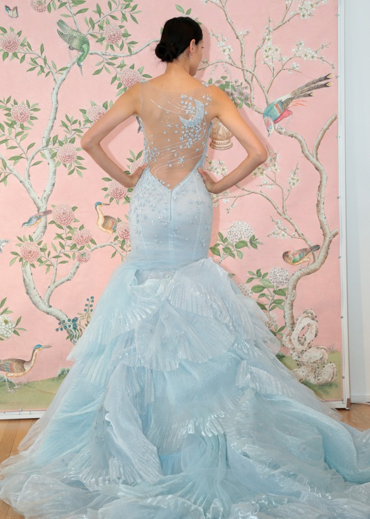 Ines di Santo Bridal Wedding Gown Ballgown Asymmetrical Sleeveless