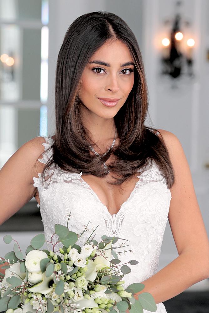 Kiara Gomez of Ikon Models. Hair by Gabriella Briganti, Makeup by Sandra Sanchez, both of Ciro's Hair Pavilion.