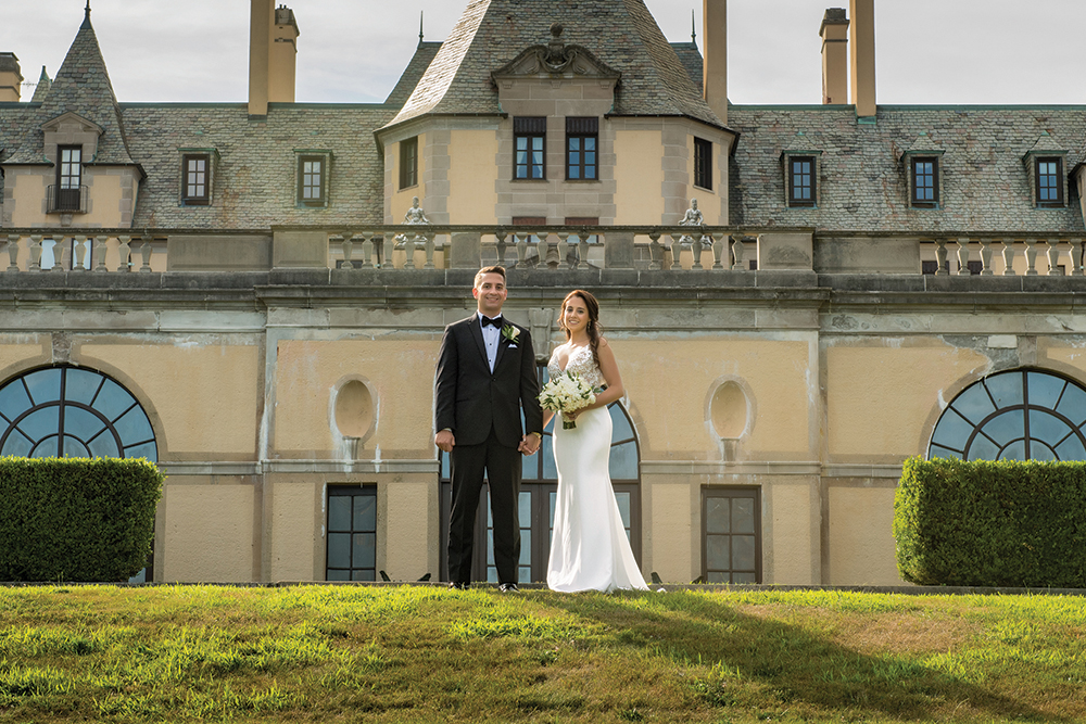 Elena & Vincent's Garden Wedding at OHEKA CASTLE