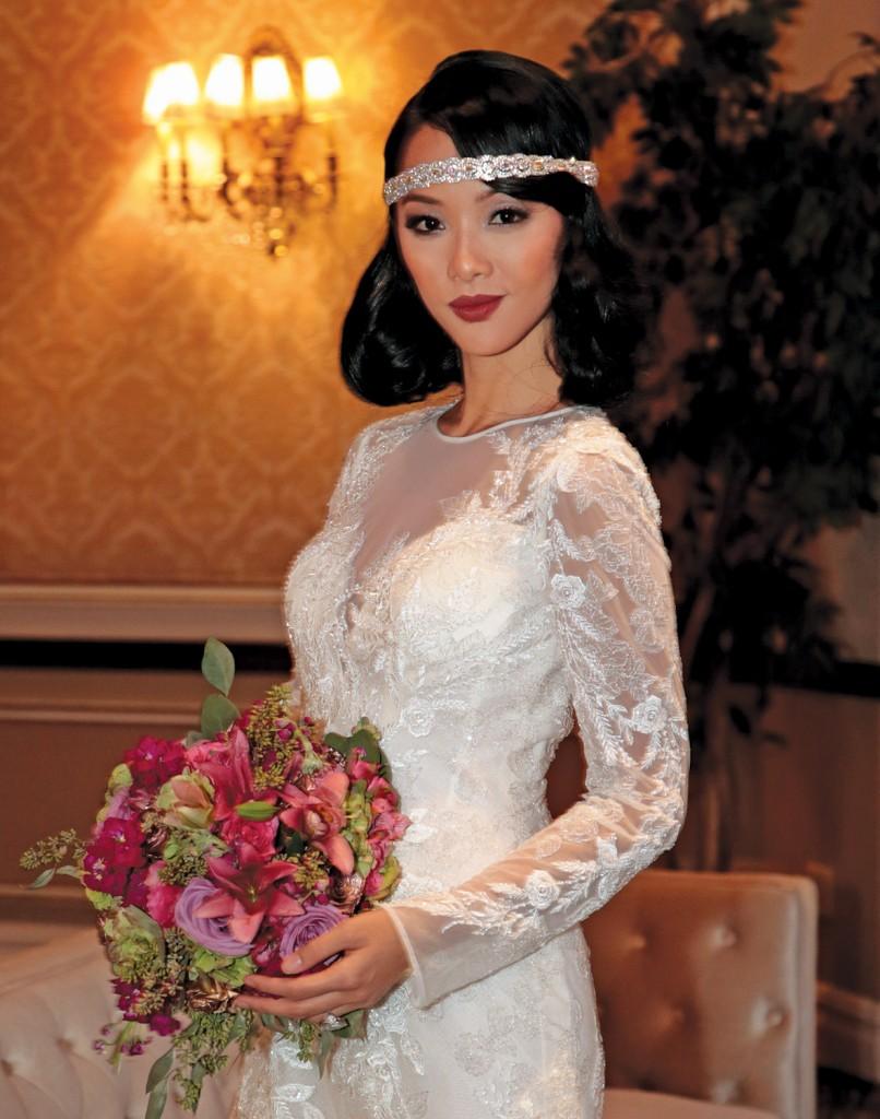 Shuya Chang of Ikon Models. Hair by Gabriella Briganti, Makeup by Sandra Sanchez, both of Ciro's Hair Pavilion.