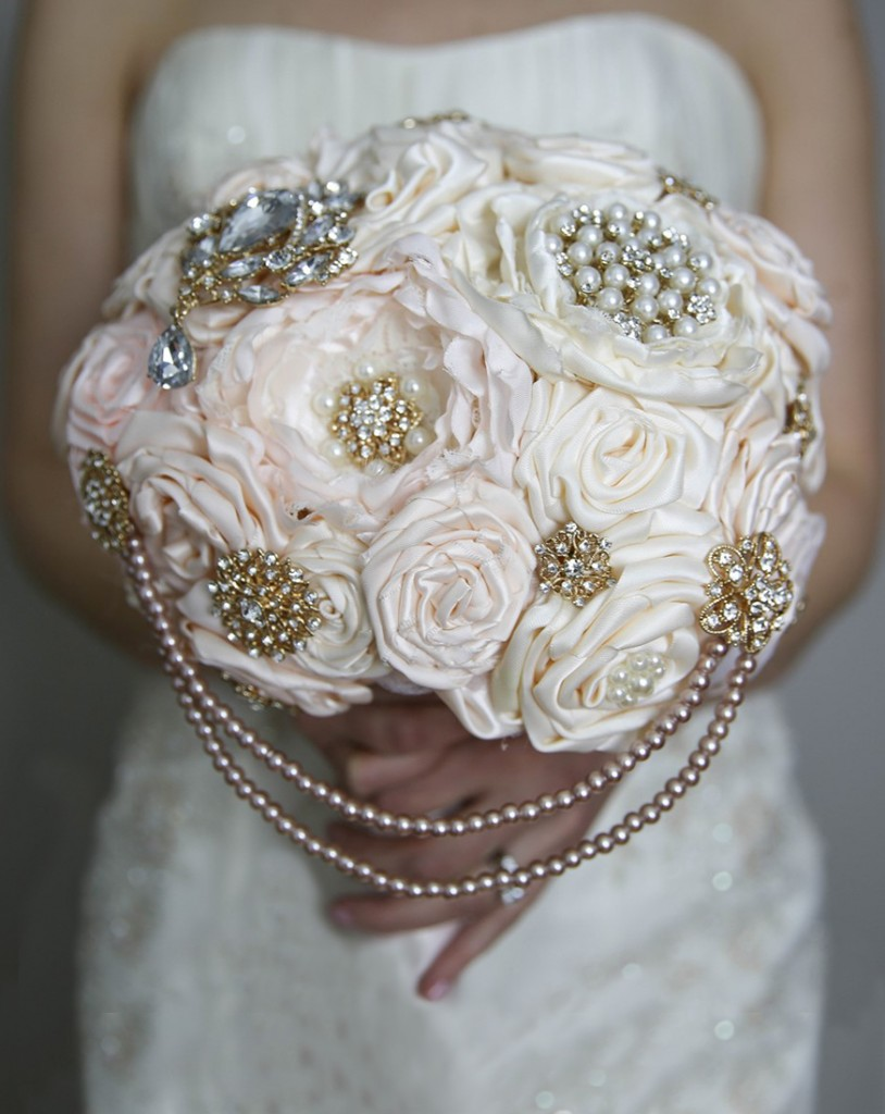 Forever Brooch Bouquets (Ruffles & Trains Photography)