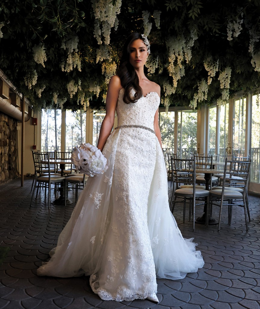 Gown: Bossina Designer Collection (Sophia) Bouquet: Forever Brooch Bouquets