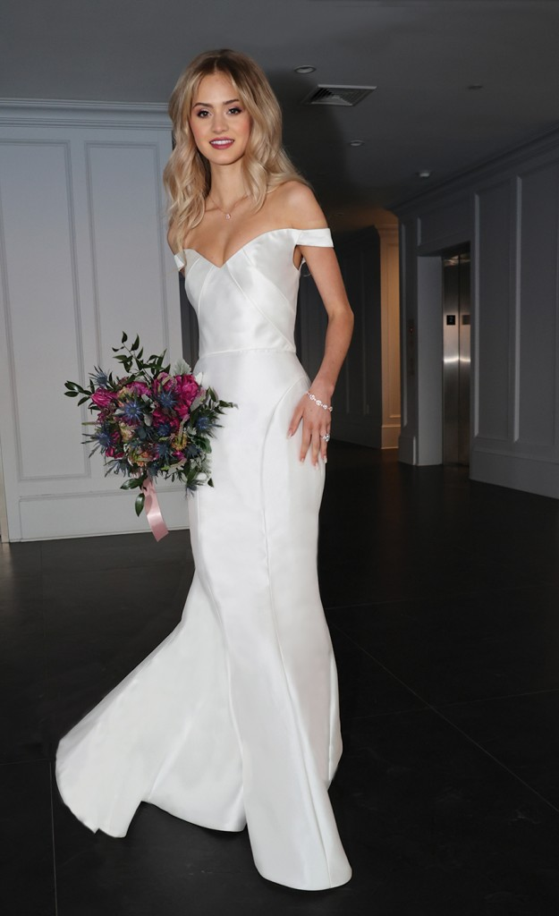 Gown: Antonio Gual at Tulle New York (Tamara, $3000) Bouquet: Douglas Koch Design Ltd.