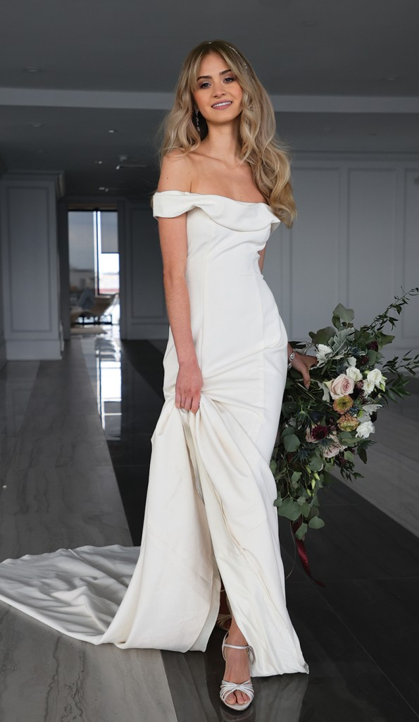 Gown: David's Bridal (WG4013, $599) Bouquet: Douglas Koch Design Ltd.