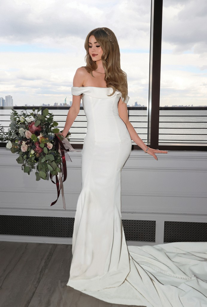 Gown: David's Bridal (WG4013, $599) Bouquet: Douglas Koch Designs Ltd.
