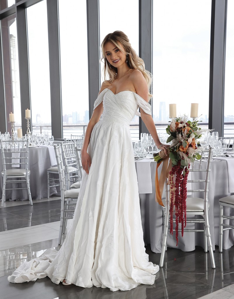 Gown: Tulle New York (Miriam, $4900) Bouquet: Douglas Koch Design Ltd.