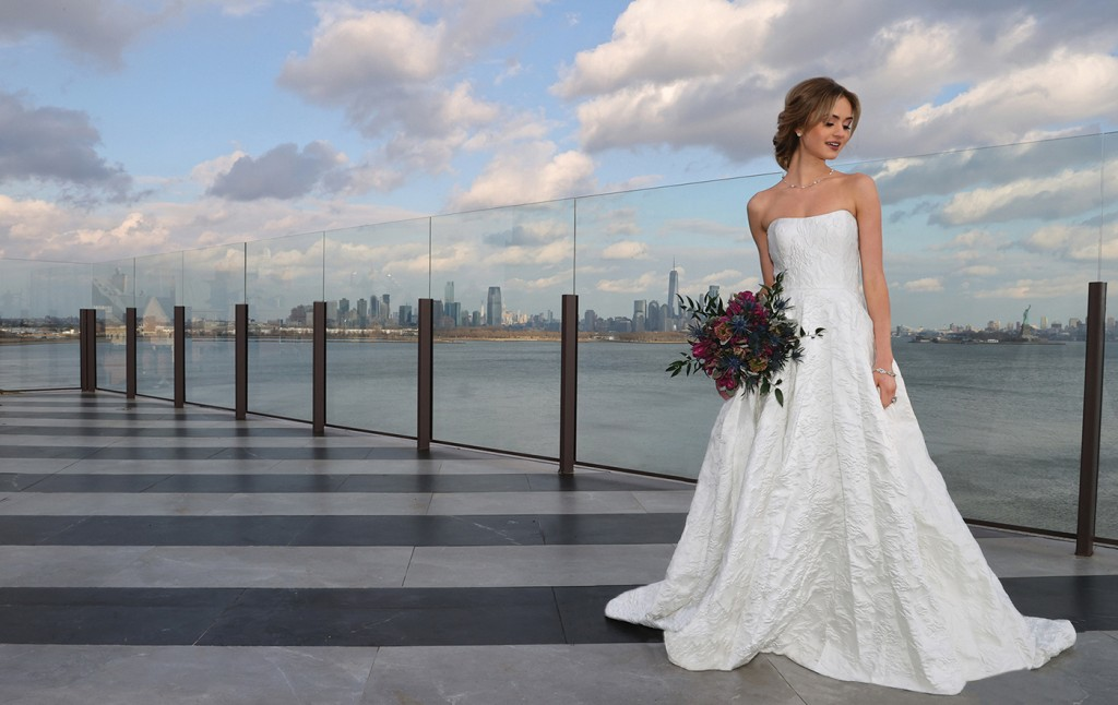 Gown: Tulle New York (Rachel, $3300) Bouquet: Douglas Koch Design Ltd.