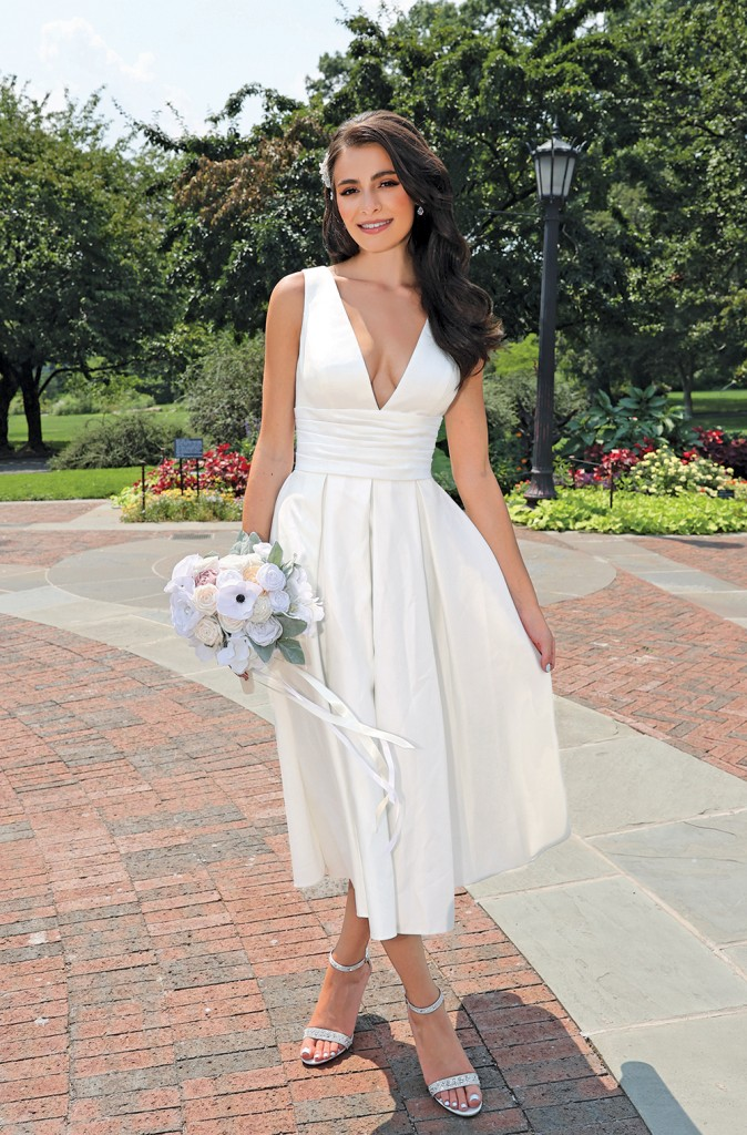 Gown: DB-Studio-at-David's-Bridal (SDWG0970, $299.95). Bouquet Forever Brooch Bouquets.